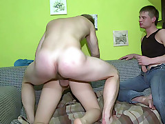 Stranger bangs chick in different positions and cums on tits