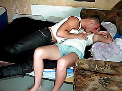 Beautiful chick plays with penis of man before nice banging