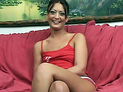 Horny teen Francesca gives off an excellent head and lures a hunk into ramming her tight slit