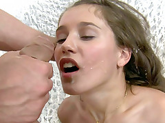 Sexy girl rides dick and gets ass toy fucked at the same time