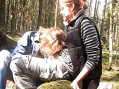 While on a hiking trip this couple decides to fuck in the beautiful outdoors